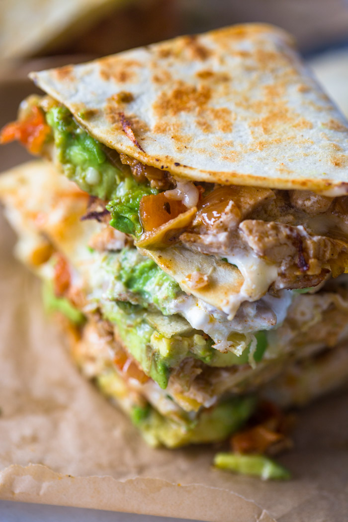 Chicken Avocado Quesadillas | Gimme Delicious