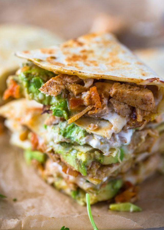 Chicken Avocado Quesadillas Gimme Delicious