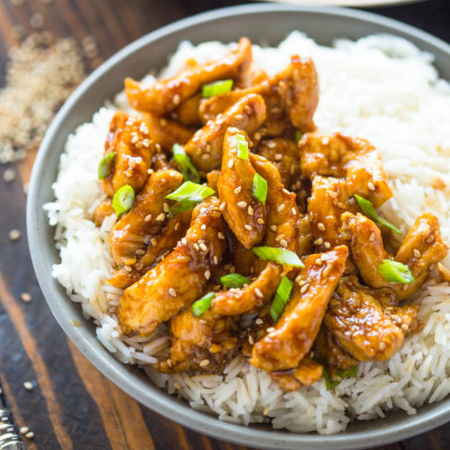 Healthier 20 Minute Sesame Chicken Gimme Delicious