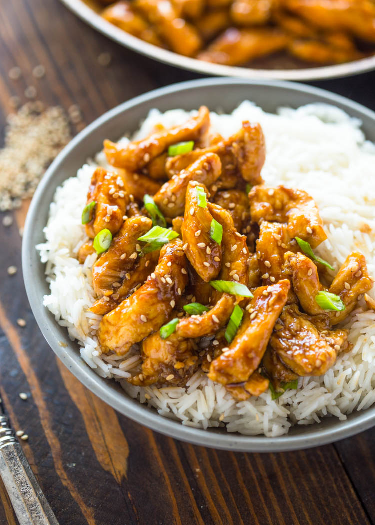 20 Minute Healthier Sesame Chicken