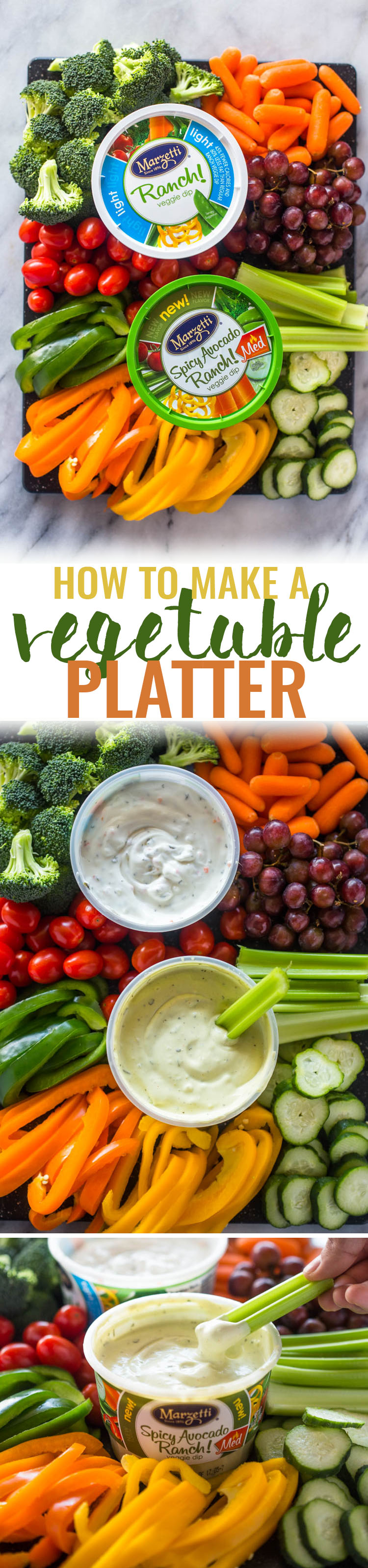 How to Assemble A Veggie Platter + Giveaway!