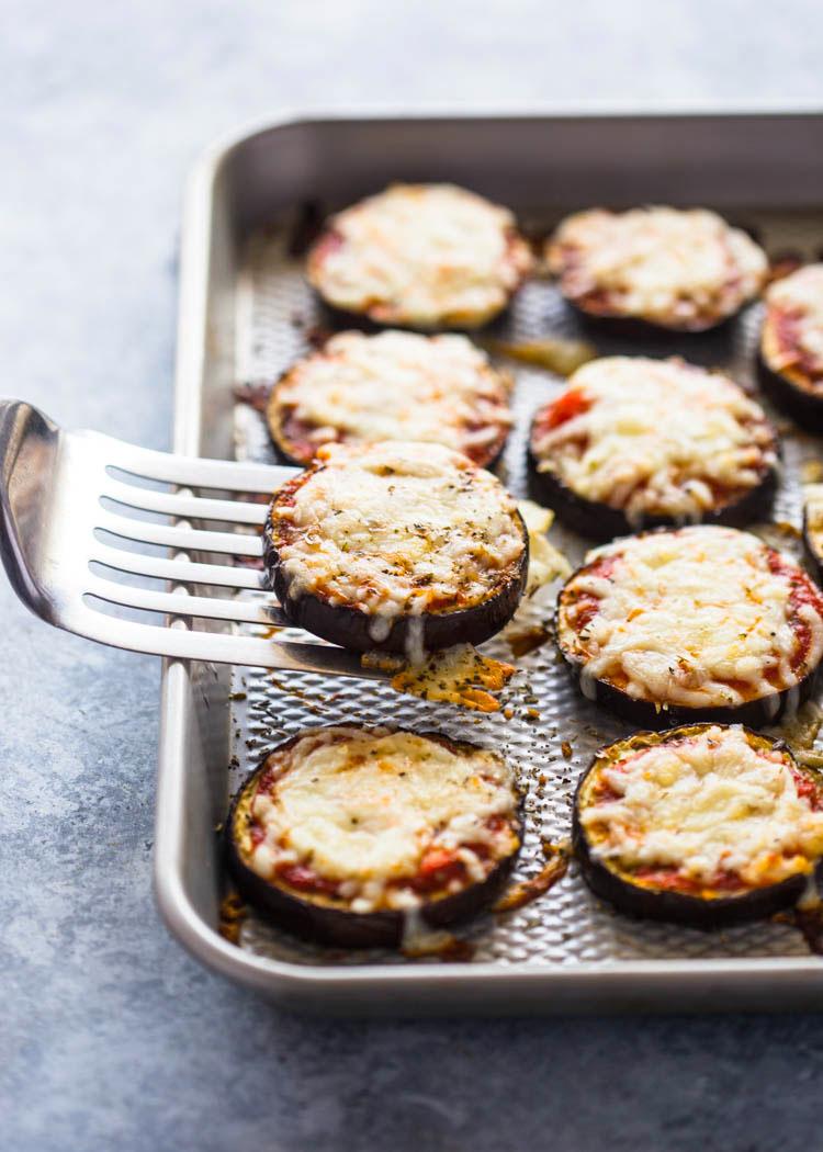 Low-Carb Eggplant Pizza Bites