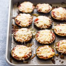 Low-Carb Eggplant Pizza Bites