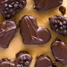 Skinny Edible Chocolate Chip Cookie Dough Hearts