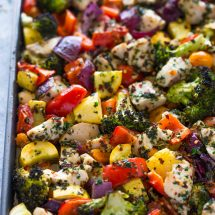 Sheet Pan Roasted Garlic & Herb Chicken and Veggies + Giveaway!