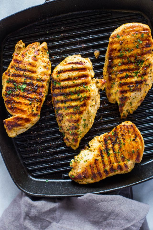 how to cook grilled chicken stove top