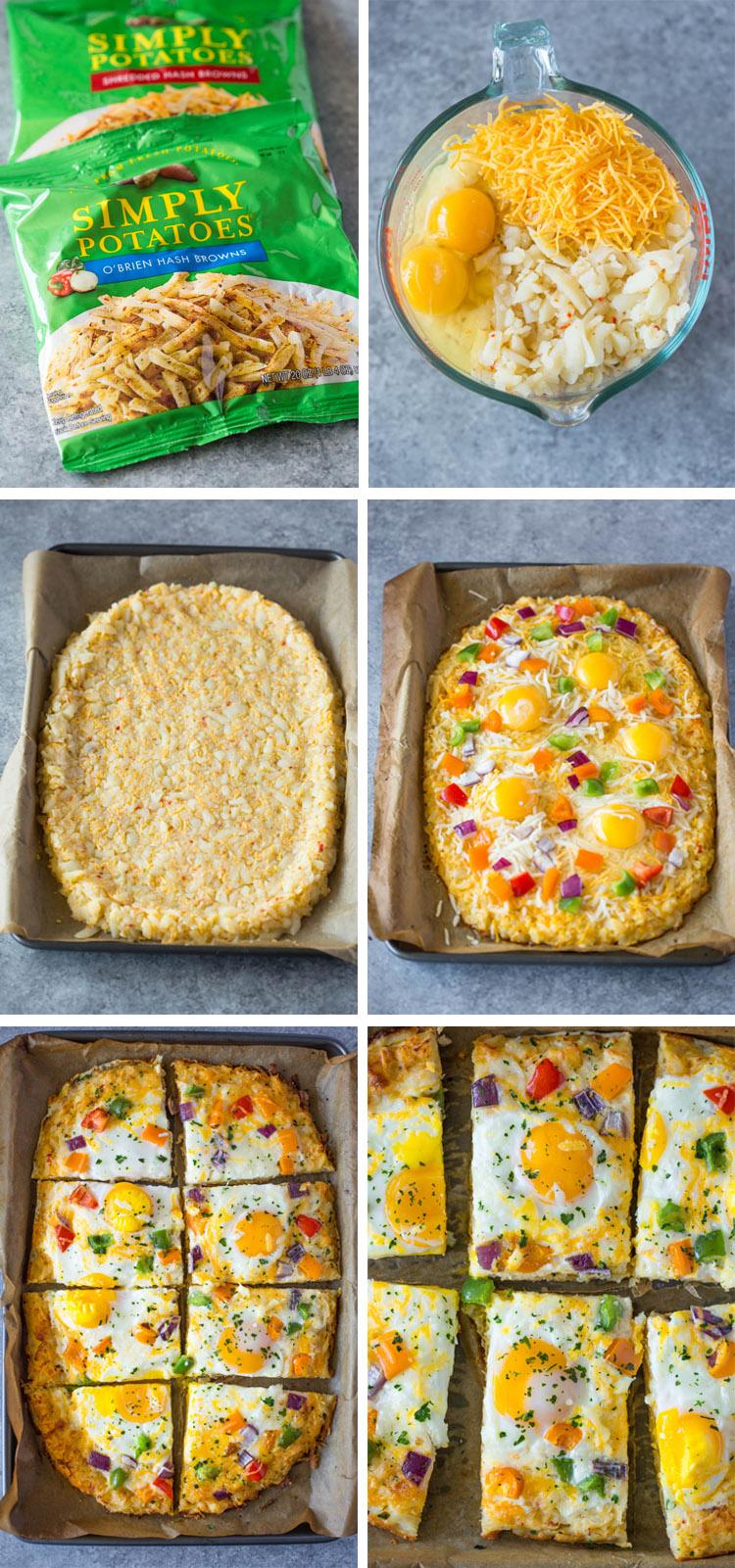 Hash Brown Crust Breakfast Pizza