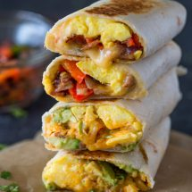 Cheesy Breakfast & Brunch Egg burrito Wraps + Giveaway