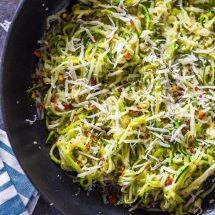 Garlic Parmesan Zoodles (4 Ingredient, 10 min)
