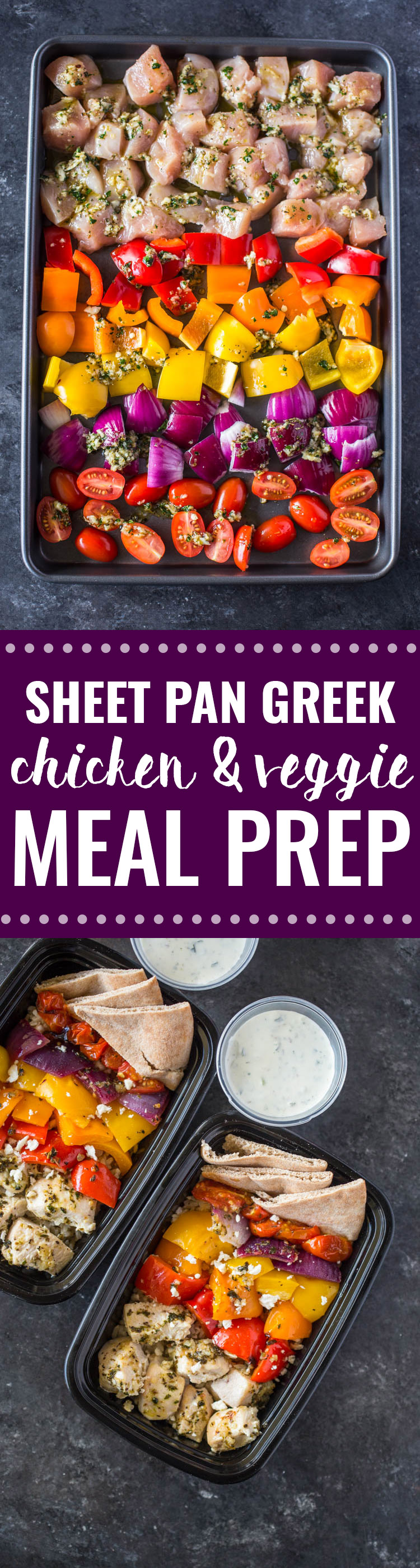 Meal-Prep Greek Chicken and Veggies with Tzatziki
