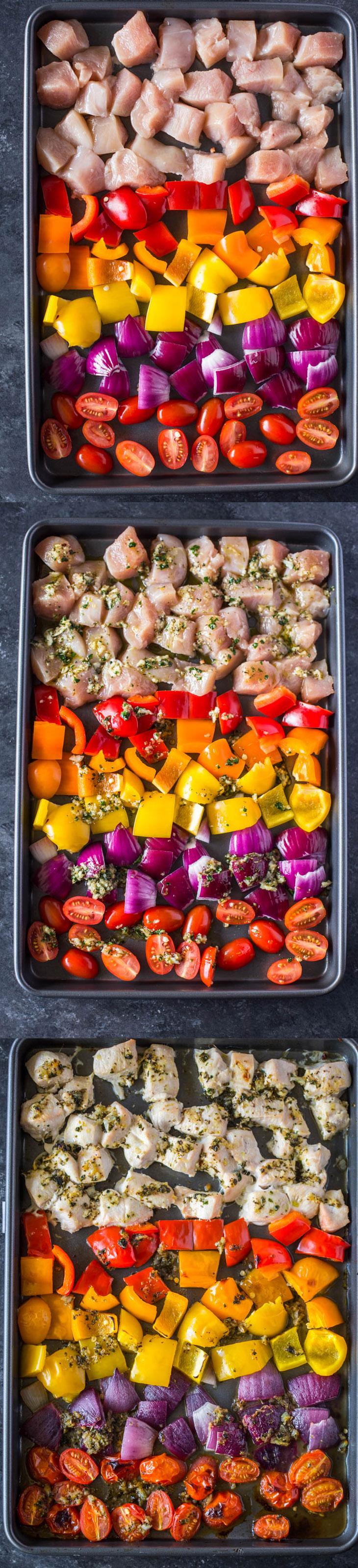 Sheet Pan Greek Chicken & Veggies