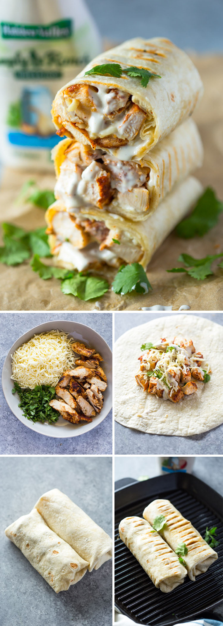 Chicken Ranch Wraps