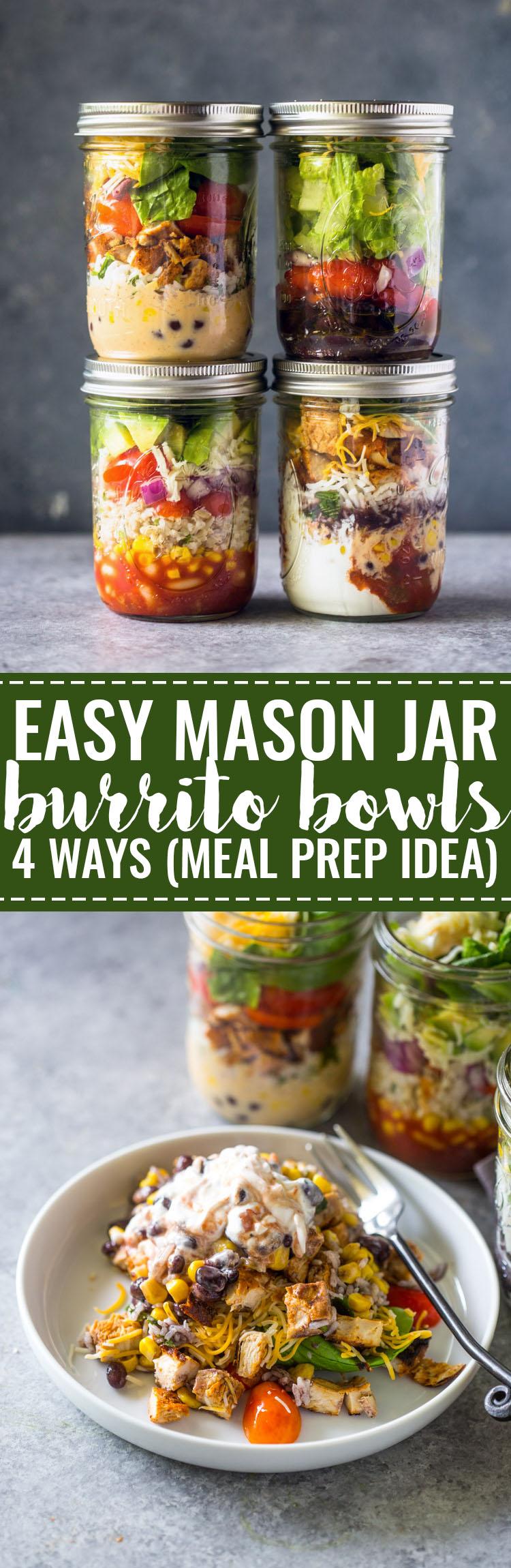 Mason jar burrito bowls never miss a recipe forumfinder Gallery