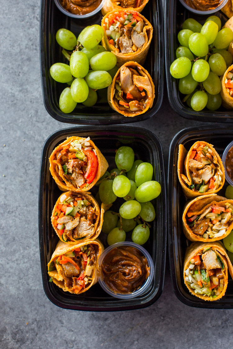 Thai Chicken Wraps Meal-Prep Bistro Boxes
