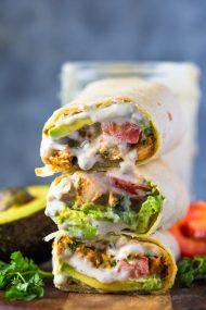 Avocado Ranch Chicken Burrito Wraps