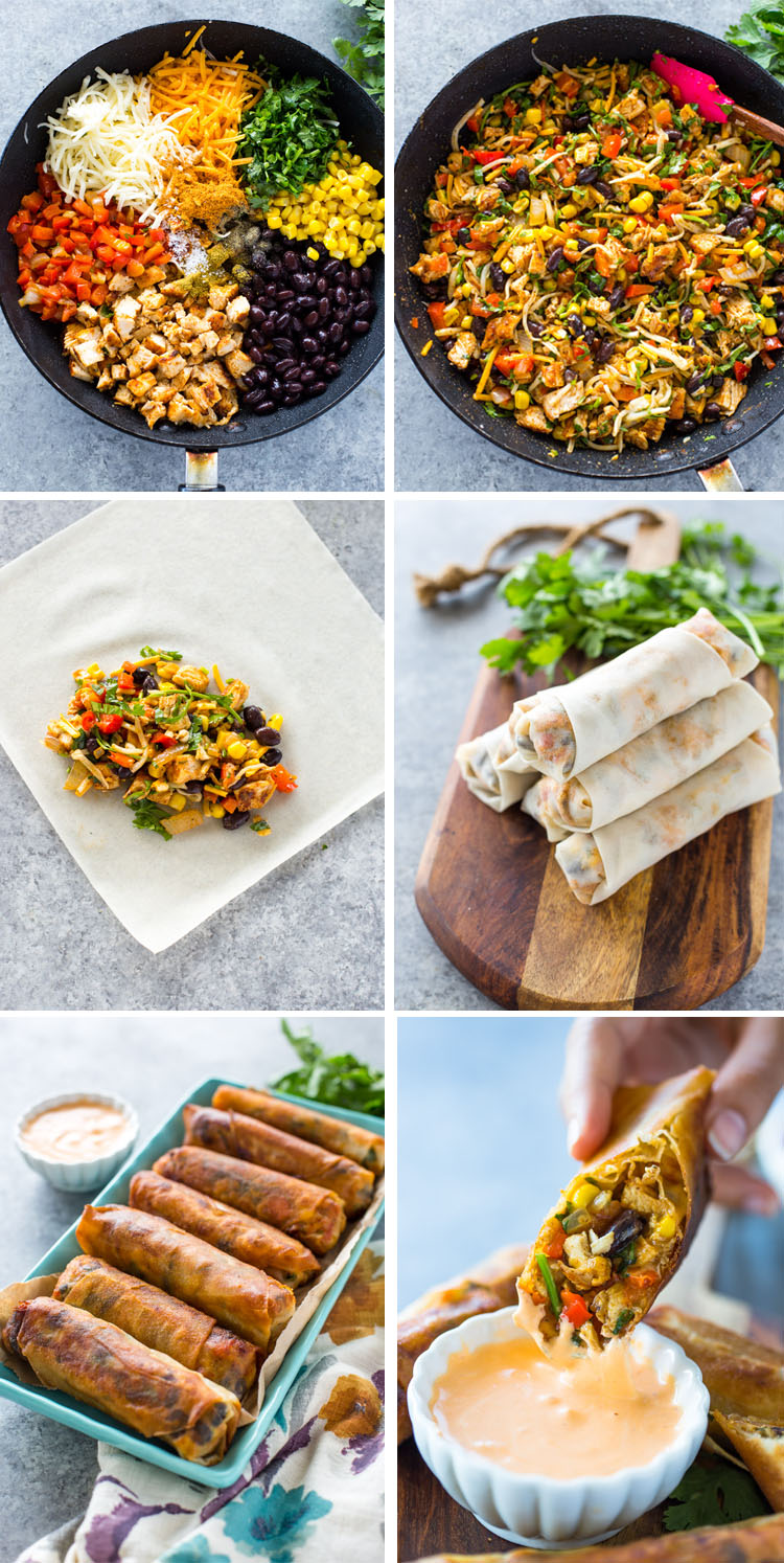 Southwestern Egg Rolls (Baked or Fried)