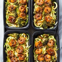 Shrimp Teriyaki Zucchini Noodles Meal-Prep