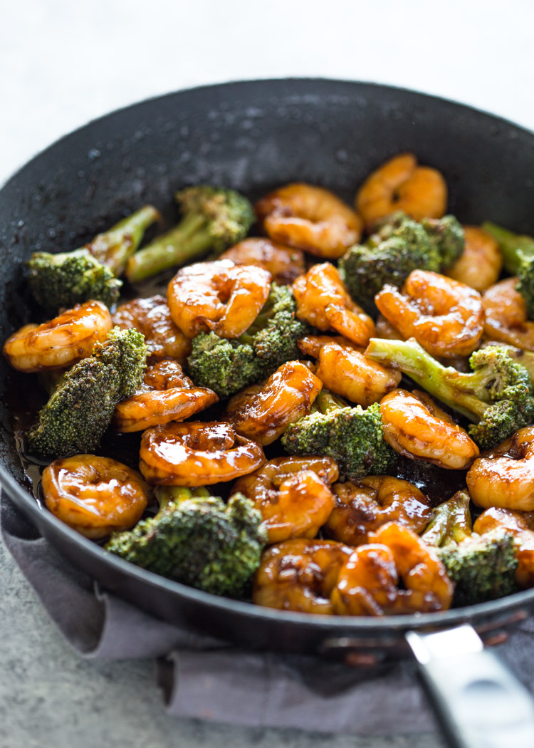Quick 10 Minute Shrimp Teriyaki Stir-Fry
