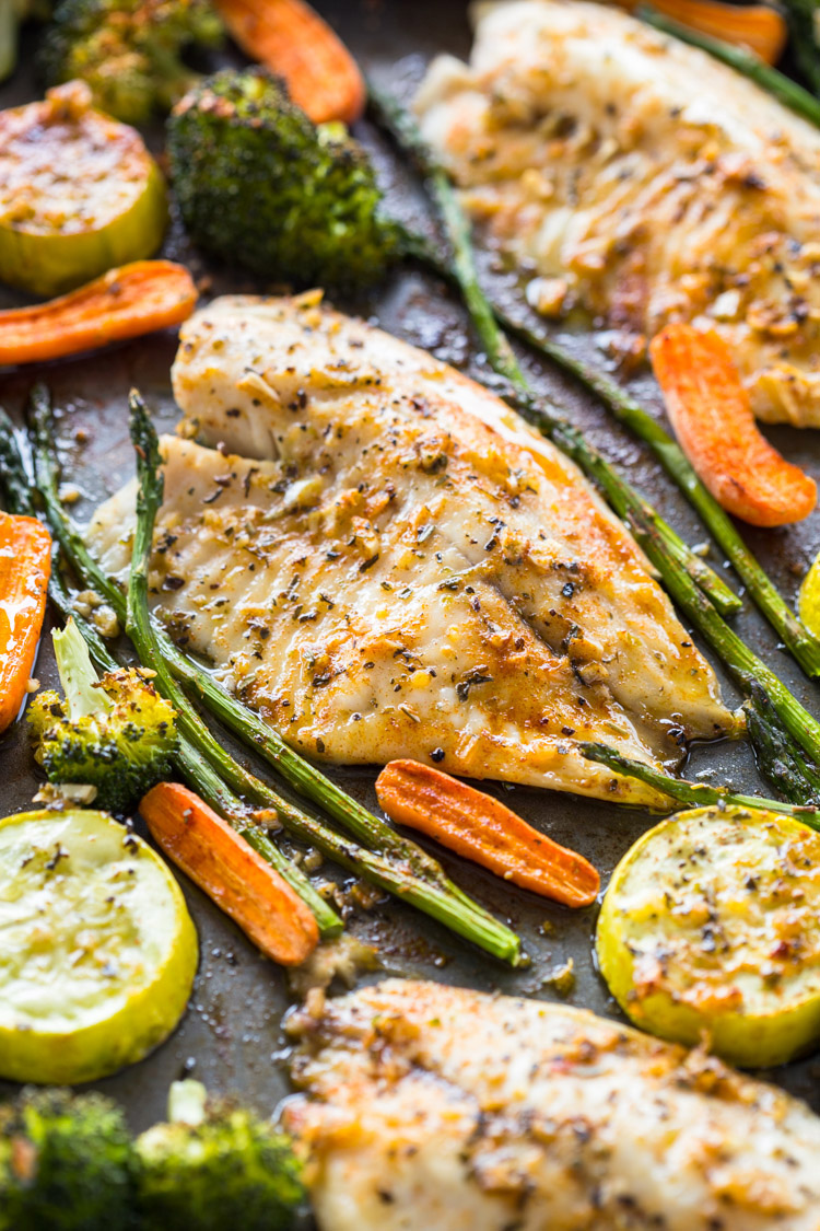 Healthy Sheet Pan Tilapia And Veggies Meal Prep Gimme Delicious