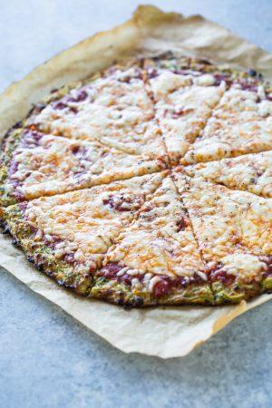 Low-Carb Zucchini Crust pizza