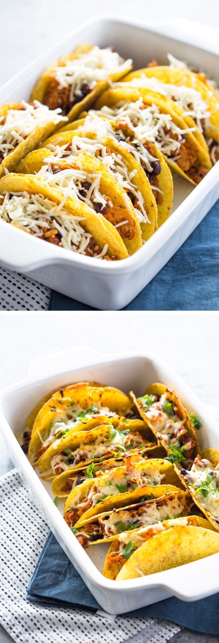 Easy Baked Chicken Tacos