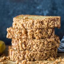 Healthier Cinnamon Crumb Banana Bread
