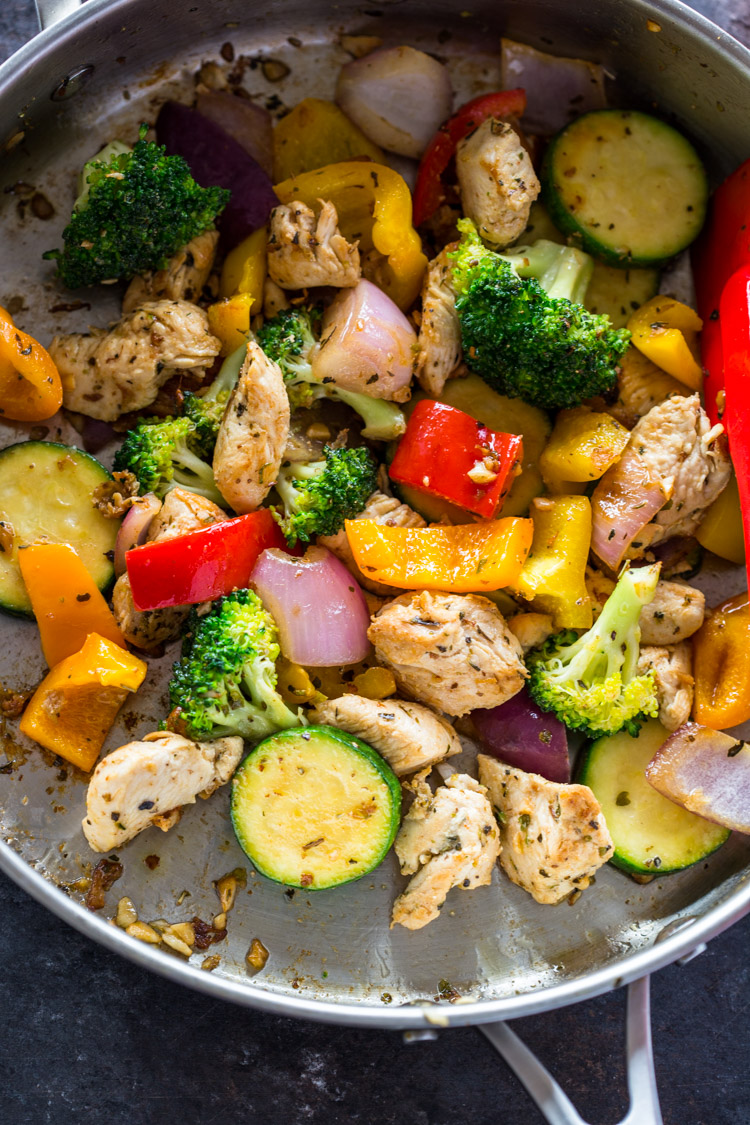 Quick Healthy 15 Minute Stir-Fry Chicken And Veggies