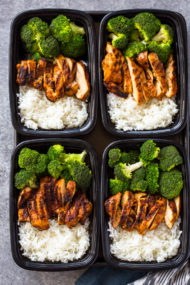 20 Minute Meal-Prep Chicken, Rice and Broccoli