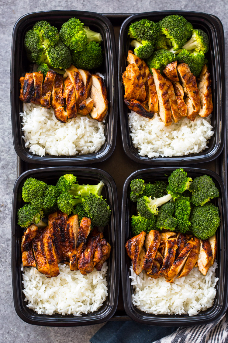 20 minute meal prep chicken rice and broccoli for Different meals to make with chicken