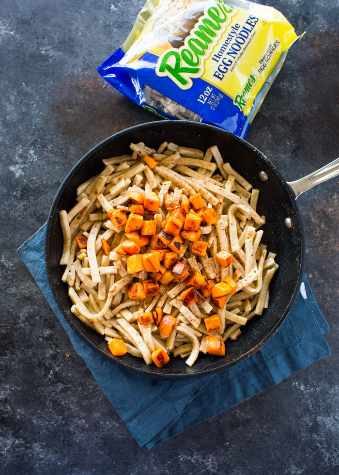 Brown Butter Egg Noodles With Sweet Potatoes