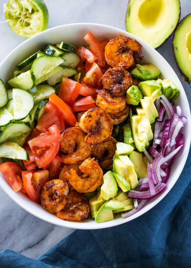 Skinny Shrimp Amp Avocado Salad With Cilantro Lime Dressing