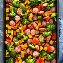 Healthy 20 Minute Sheet Pan Sausage and Veggies