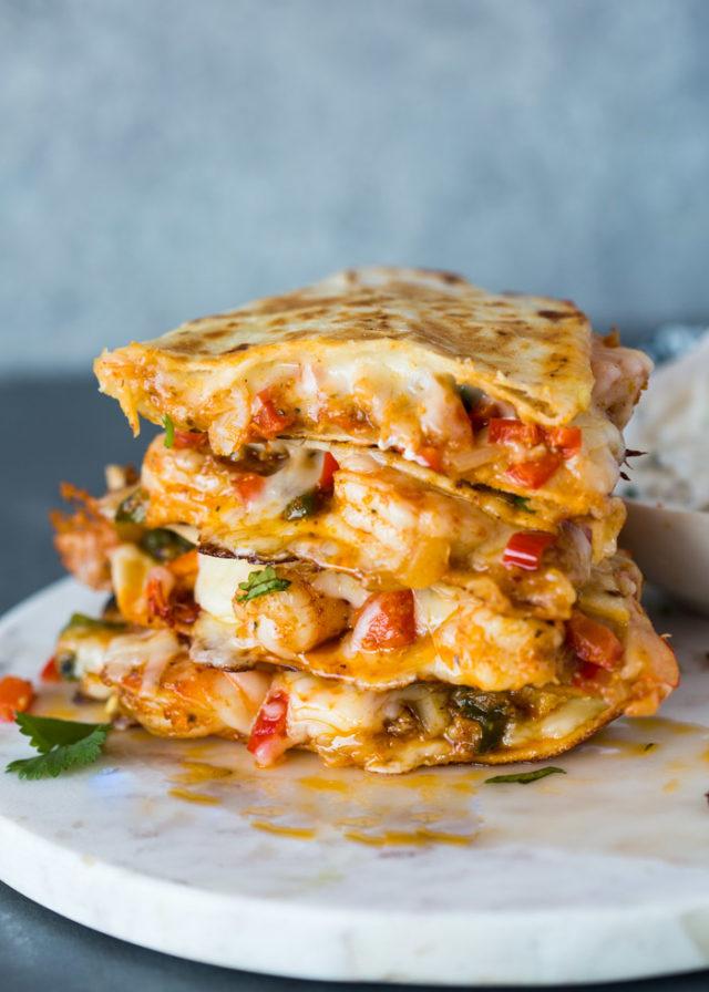 The Best Shrimp Quesadillas Gimme Delicious