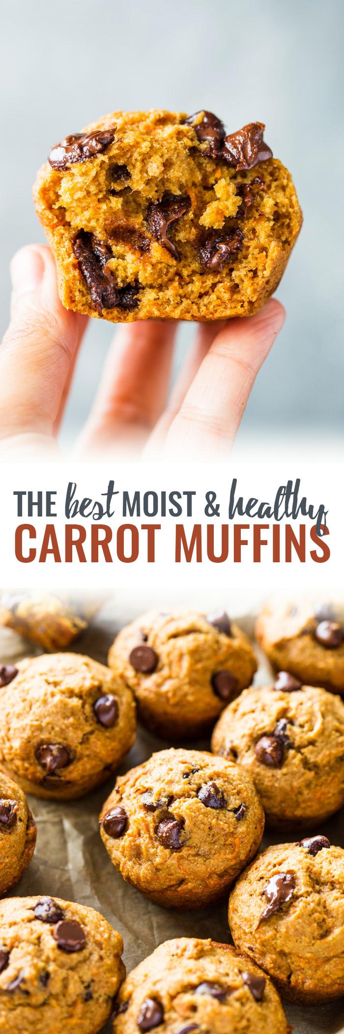 Healthy Moist Carrot Muffins