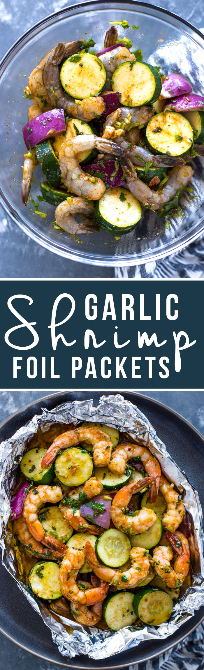 Garlic Shrimp and Veggie Foil Packs