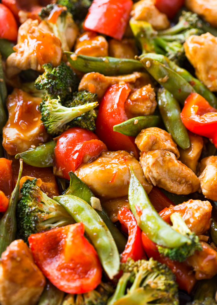 Sheet Pan Sweet Chili Chicken & Veggies