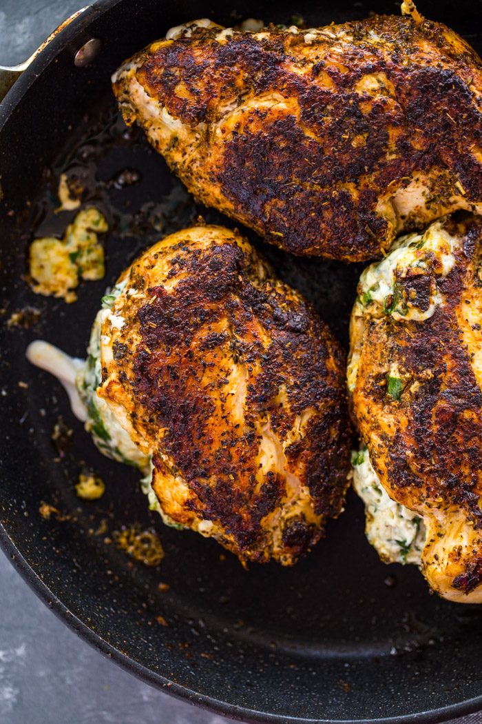 Cream Cheese Spinach Stuffed Chicken Low Carb Keto Gimme Delicious