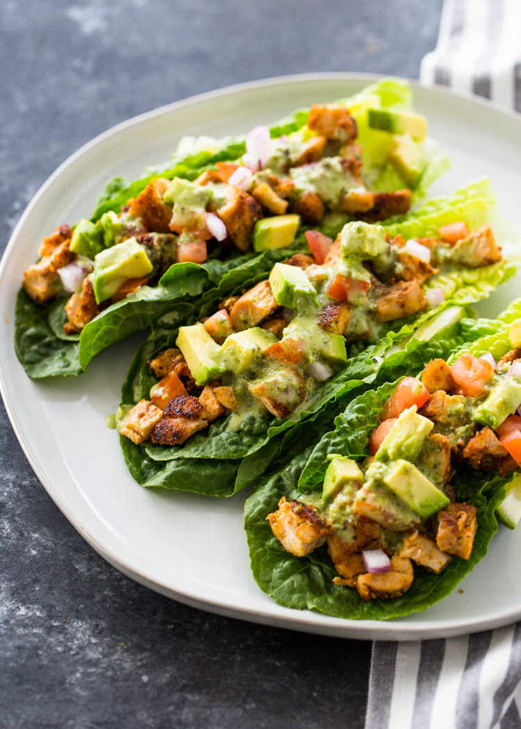 Chicken Taco Lettuce Wraps (Low-Carb , Paleo, Keto ...