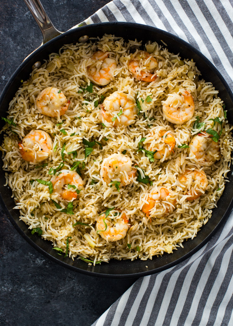 15 Minute One Pan Shrimp And Rice Gimme Delicious