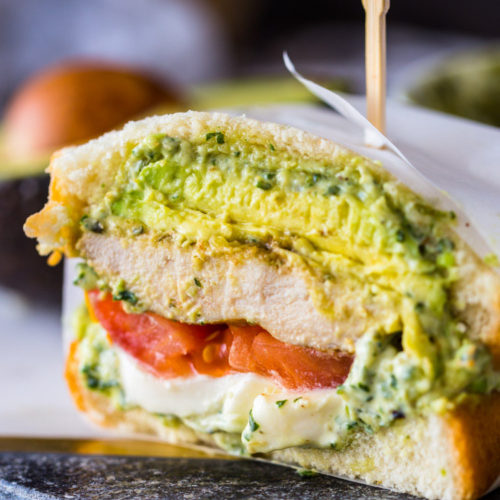 Pesto Chicken Avocado Sandwiches Gimme Delicious