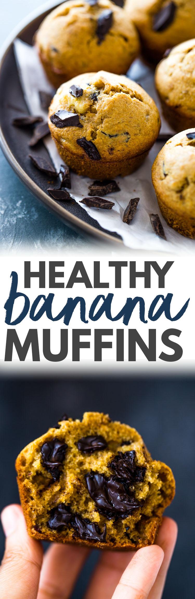 Healthy Moist Banana Muffins