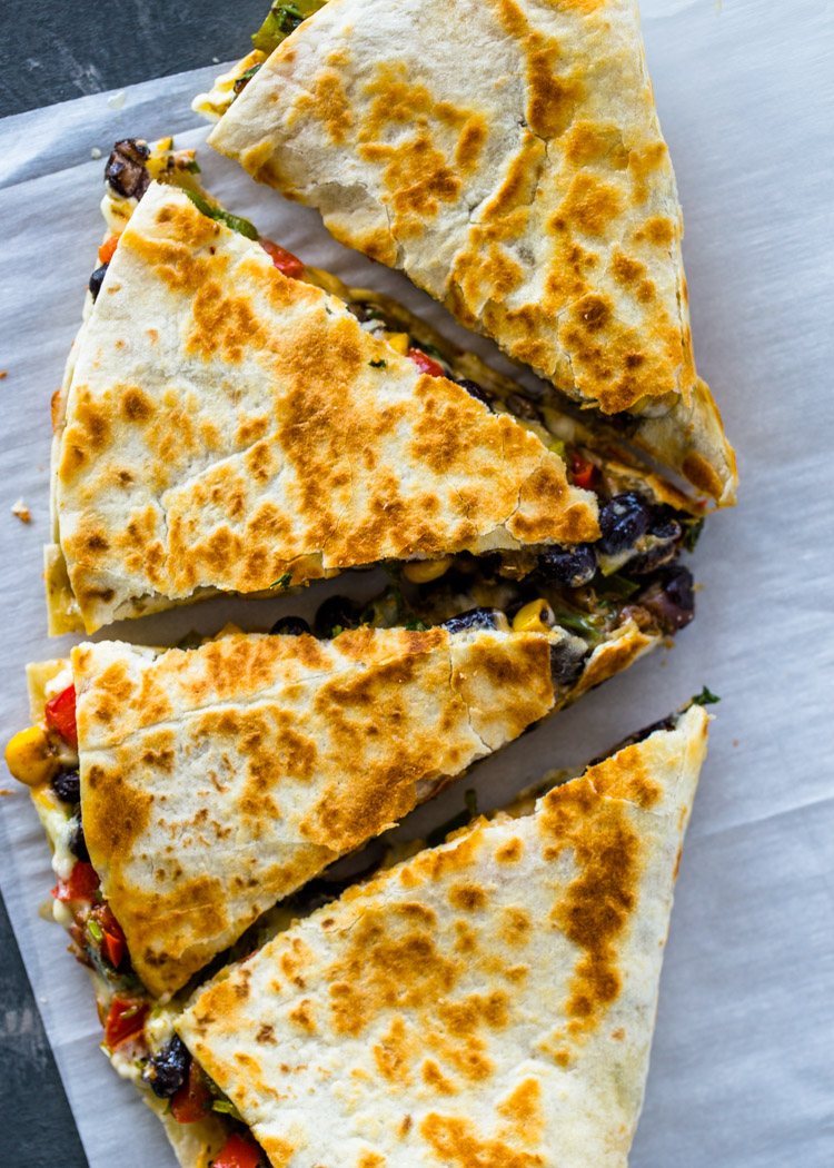 Southwest Veggie Quesadillas | Gimme Delicious