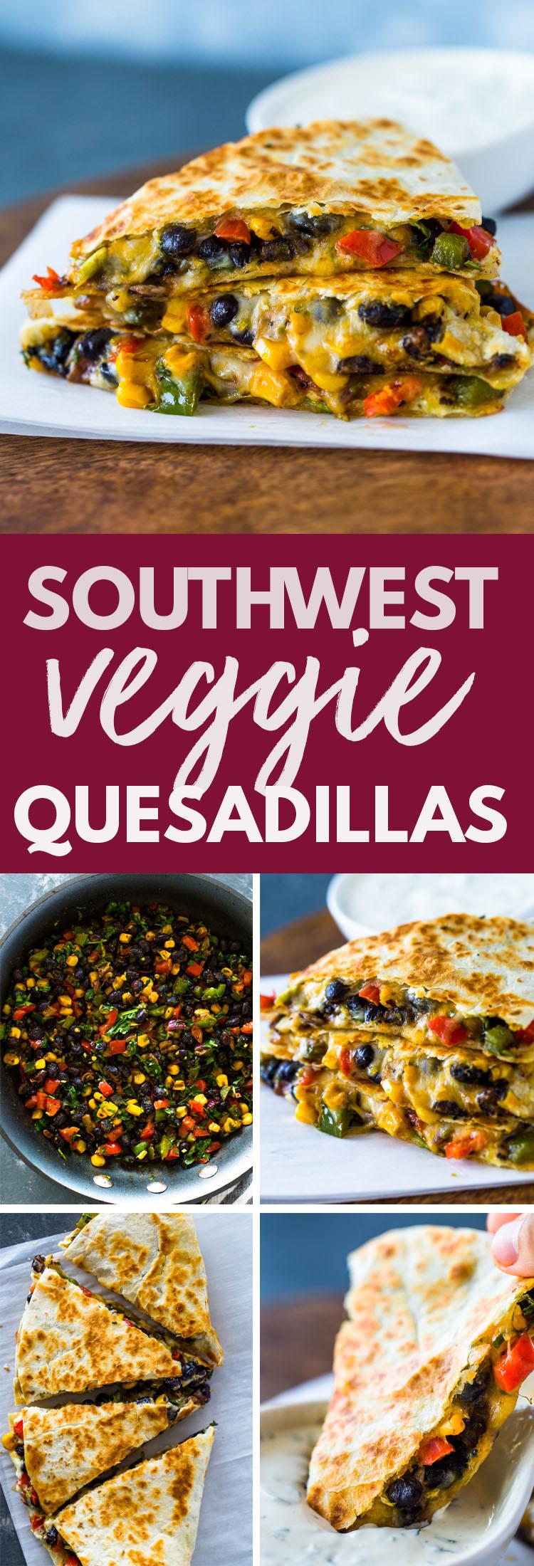 Southwest Veggie Quesadillas