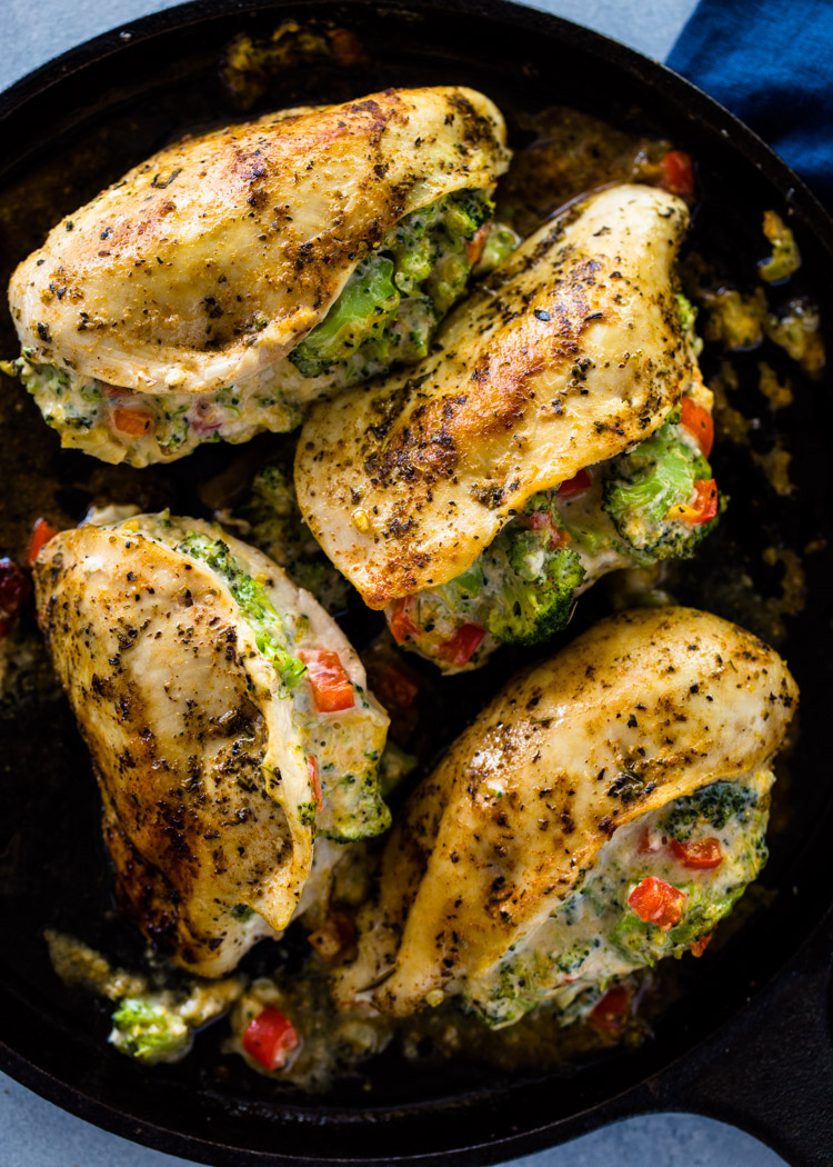 Cheesy Broccoli Stuffed Chicken Low-Carb, Keto  Gimme -5286