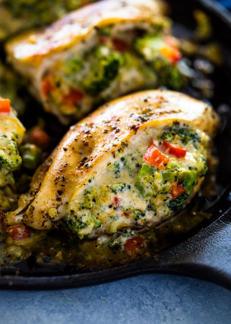 Cheesy Broccoli Stuffed Chicken Low Carb Keto