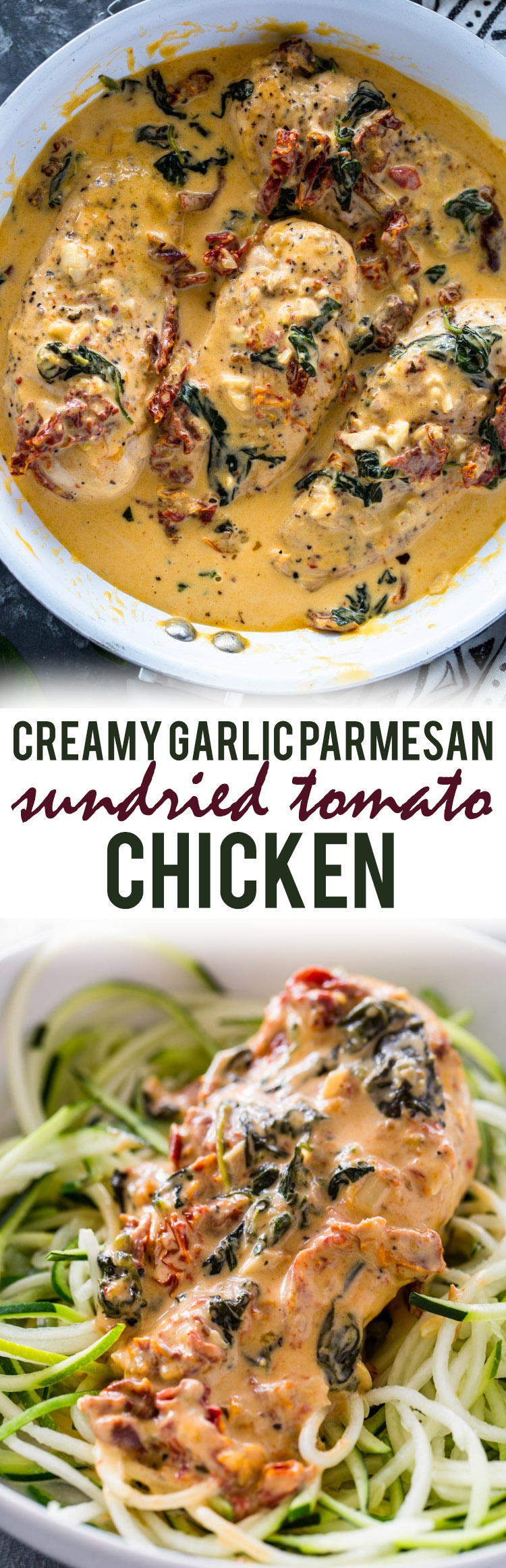 Creamy Garlic Parmesan Sun-dried Tomato Chicken