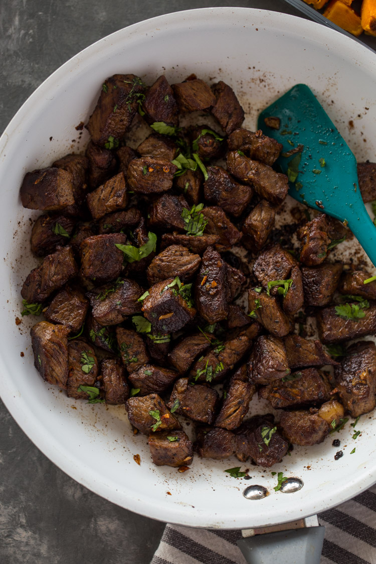 Garlic Steak Bites