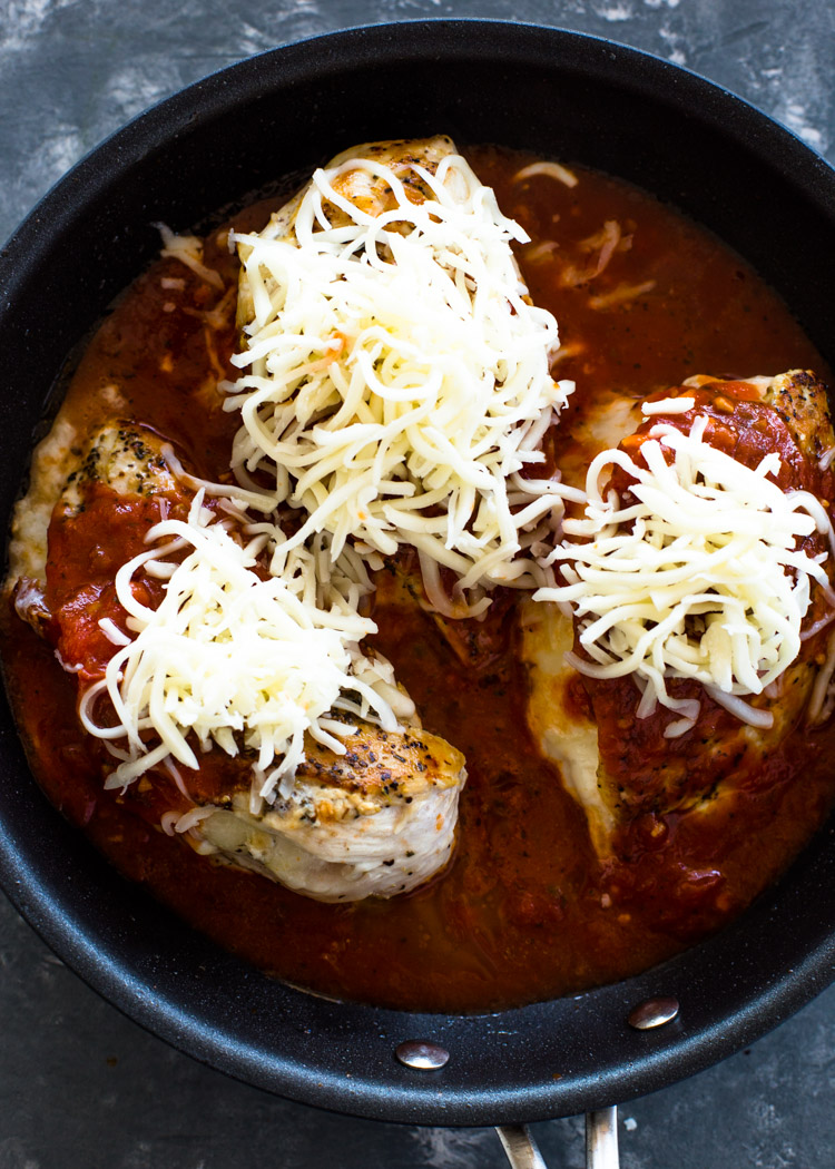 Keto Stuffed Chicken Parmesan