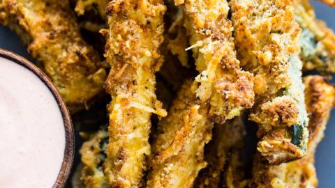 Air Fryer Zucchini Fries (Low Carb - Keto)