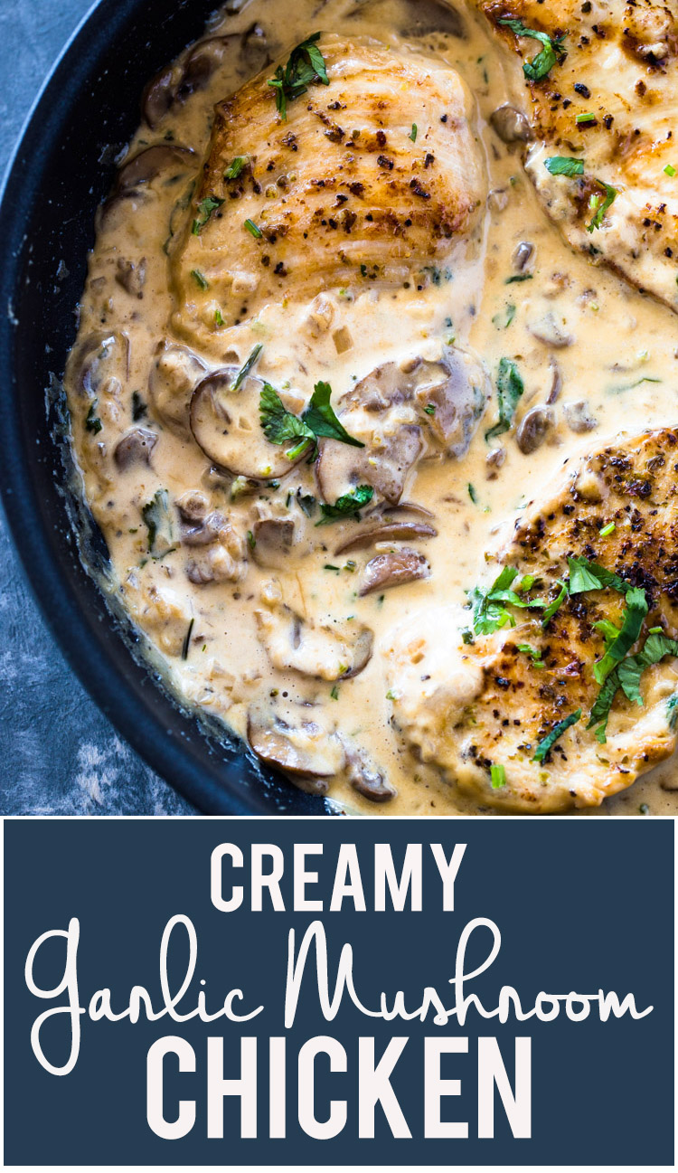 Creamy Garlic Parmesan Mushroom Chicken (Low-Carb Keto)